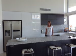 New York Style White and Granite bench top Kitchen Sunshine Coast